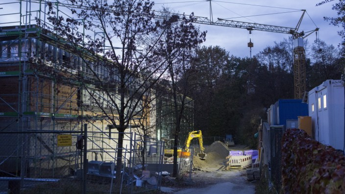 Baustelle Cosimawellenbad, Cosimastraße 5 in München