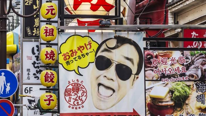 Japan Osaka Dotonbori Commercial signs PUBLICATIONxINxGERxSUIxAUTxHUNxONLY THA001477