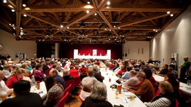 Bürgerhaus Garching. Diskussion Bürgermeisterkandidaten