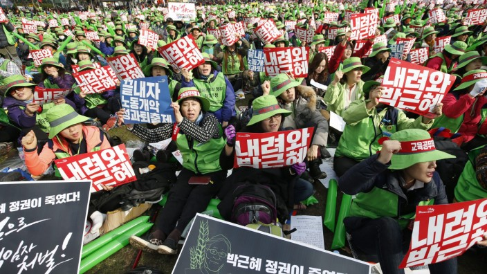South Korean protest against President Park Geun-Hye in Seoul