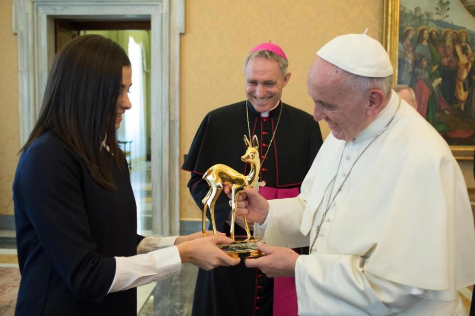 Vor der Bambi-Gala -  Papst Franziskus