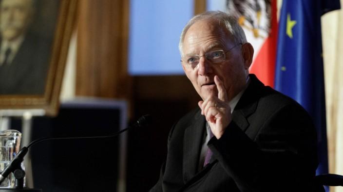 Brexit: Finanzminister Wolfgang Schäuble (CDU) während einer Rede in Wien