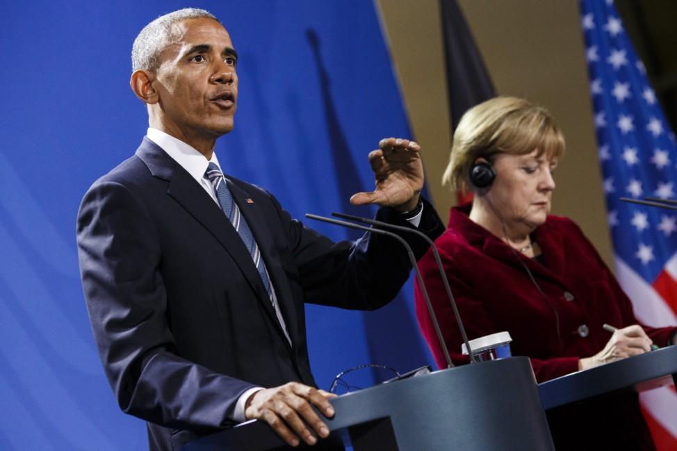 U.S. President Obama Meets With Angela Merkel