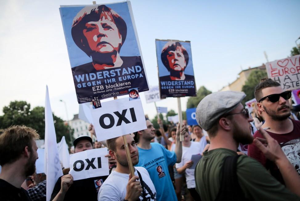 Protest zum Referendum in Griechenland