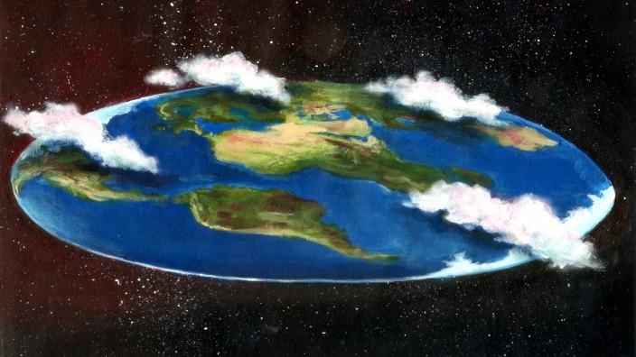 Demokratie vs. postfaktisches Zeitalter: Die Erde ist Scheibe und der Klimawandel ist erfunden: Wenn Fakten keine Rolle mehr spielen (Illustration: SZ-Grafik)