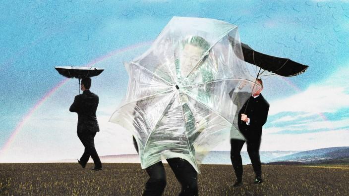 Mode: Es ist kompliziert: Männer und Schirme führen keine symbiotische Beziehung.