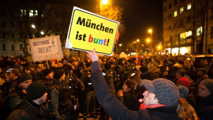 Anti-Muegida Demonstration in München, 2015