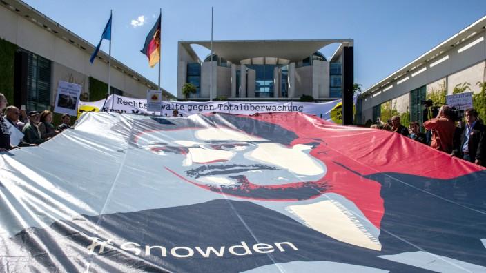 Demonstration gegen Massenüberwachung durch Geheimdienste