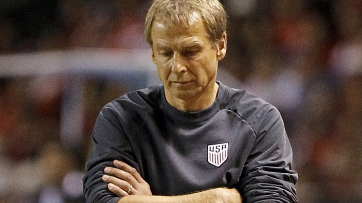 USA coach Jurgen Klinsmann during the USA World Cup 2018 Qualifier match against Costa Rica in San Jose, Costa Rica