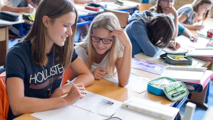 Mädchen im Mathematik-Unterricht