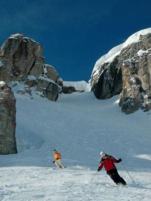 Extremskifahren in den Teton-Bergen, Jackson Hole Tourism