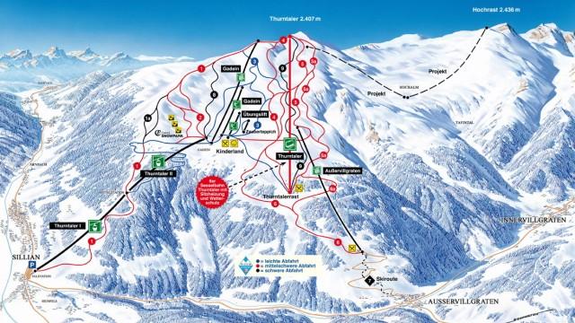 Pistenplan Sillian Osttirol Hochpustertal