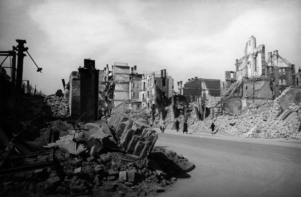 Ruinen in München nach Kriegsende, 1945-1949
