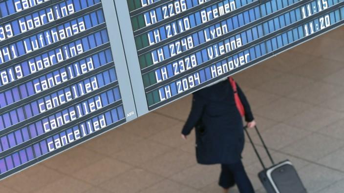Lufthansa-Piloten streiken am Münchner Flughafen weiter