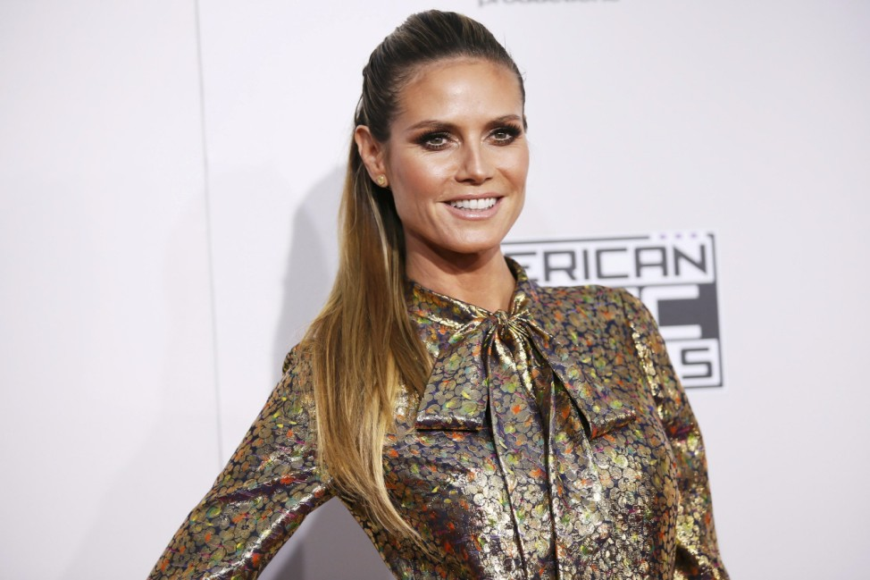 Heidi Klum arrives at the 2016 American Music Awards in Los Angeles