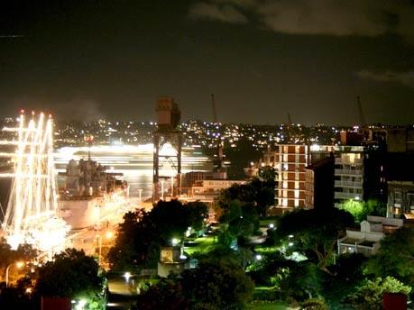 sydney hafen nacht