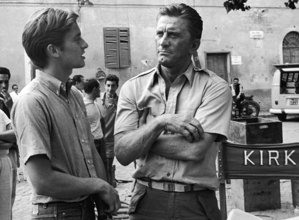 Michael & Kirk Douglas 'Cast a Giant Shadow'