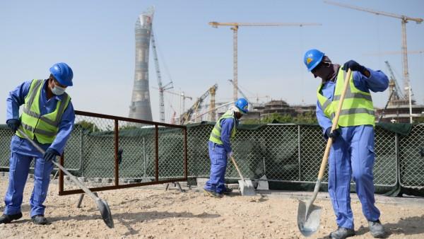 Katar - Baustelle WM-Stadion