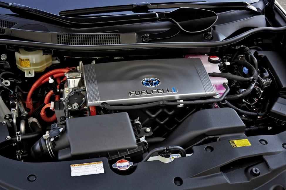 Die Antriebseinheit des Toyota Mirai.