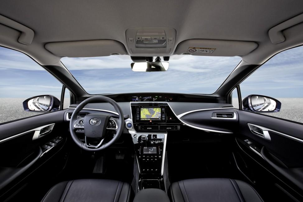 Der Innenraum des Toyota Mirai