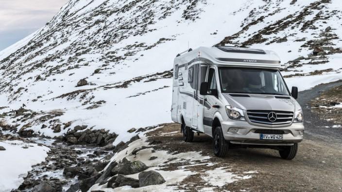 Hymer-Wohnmobil auf Basis des Mercedes-Benz Sprinter