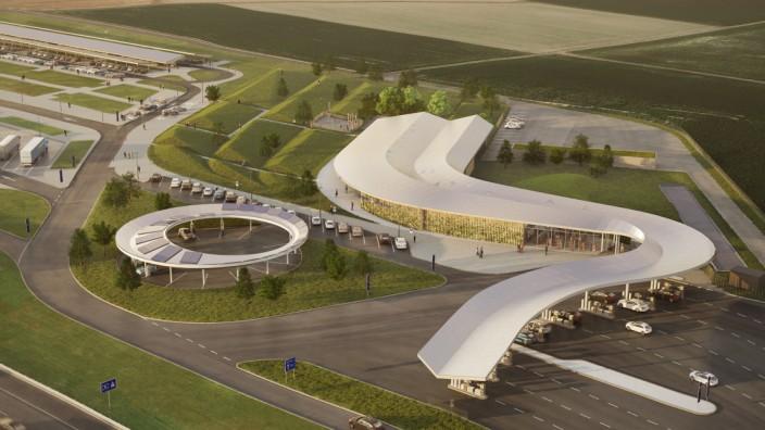 Luftbild neue Tankstelle Fürholzen
