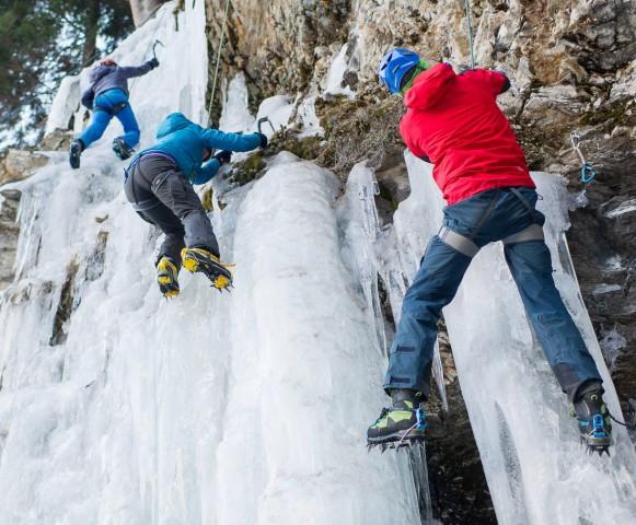 THEMENBILD Eisklettern in Osttirol Aufgenommen am 30 01 2016 in Matrei in Osttirol Oesterreich