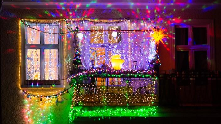 Weihnachtlicher Balkon