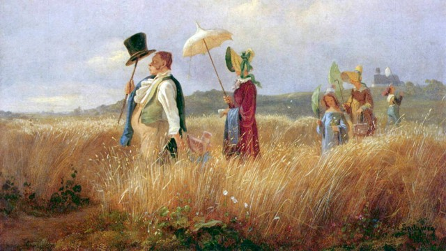 Partnerschaften: Im 19. Jahrhundert, zur Zeit des Malers Carl Spitzweg, erschienen Familienverhältnisse noch übersichtlich.