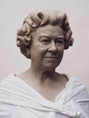 Wachsfigur von Königin Elizabeth II. bei Madame Tussaud's in London