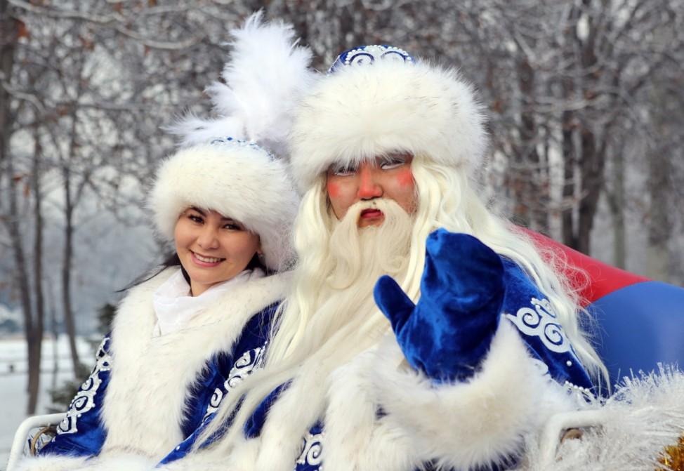 New Year's Eve celebration in Bishkek