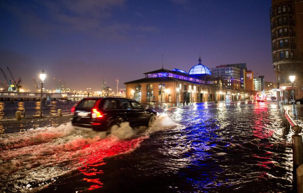 Sturmflut in Hamburg