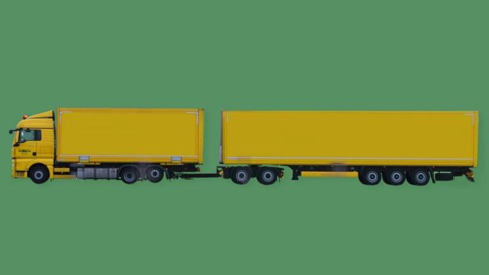Illustration eines Lang-Lkw