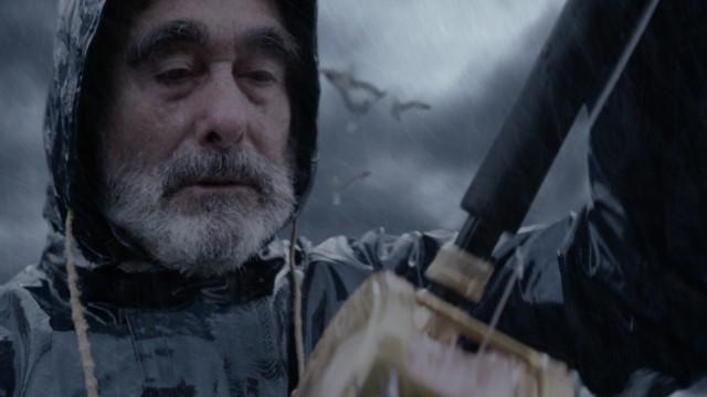 """Der baskische Schauspieler Paco Sagarzazu in der Rolle des Fischers Nikaxio im Kurzfilm """"Salpetre""""."""