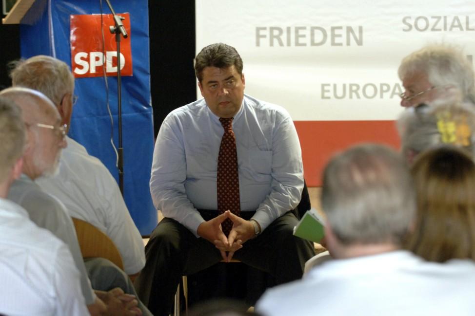 Sigmar Gabriel auf Wahlkampftour
