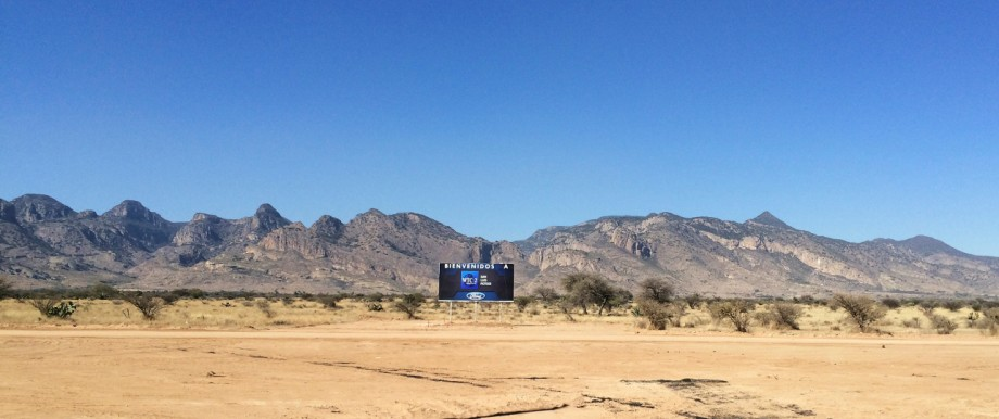 View of the construction site where Ford Motor Co cancelled a $1.6 billion plant in Villa de Reyes
