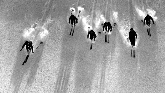 Skifahrer, ca. 1922