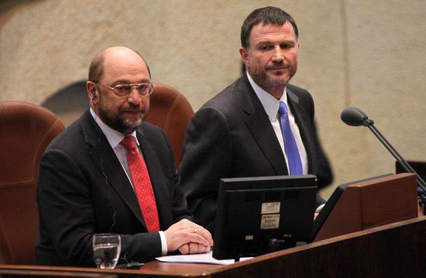 Martin Schulz im israelischen Parlament