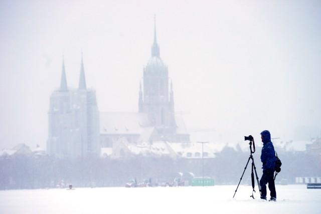 Winterstimmung auf der Theresienwiese in München, 2017