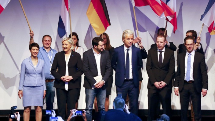 European far-right leaders meet in Koblenz to discuss about the European Union