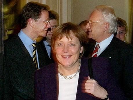 Guido Westerwelle, Angela Merkel, Edmund Stoiber, AP