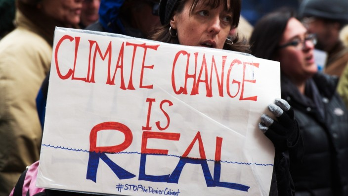 Populismus: Auf einer Demonstration gegen die Leugnung des Klimawandels in New York vor zwei Wochen