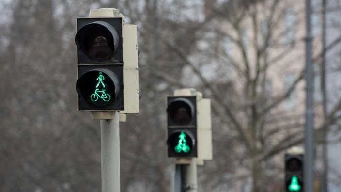 Verkehrsampeln mit Grünlicht, 2015