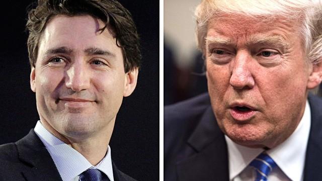 Kanada: Ins Schauspielerische übersetzt treffen mit Justin Trudeau und Donald Trump Ryan Gosling und John Wayne aufeinander.