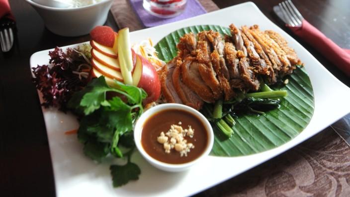 """Restaurant """"Huê House"""": Eine Königin fernöstlicher Küche: die Ente, zart und kross gebraten."""