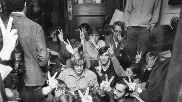 Studentendemonstration in New York, 1968