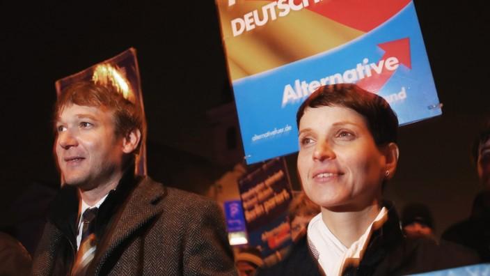Frauke Petry Speaks To AfD Gathering In Dessau