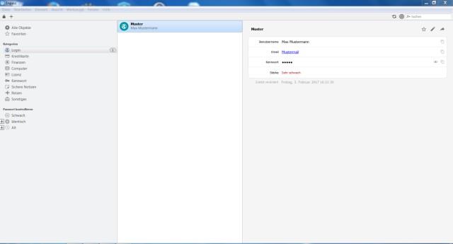 Screenshot Passwort-Manager Enpass