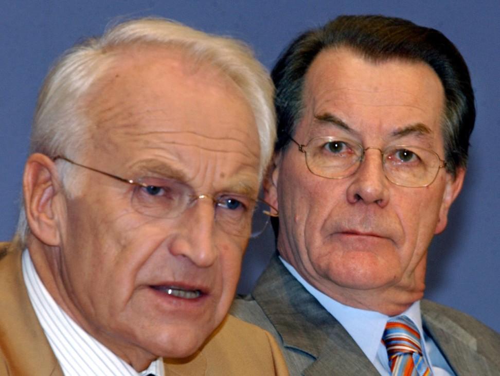 Edmund Stoiber und Franz Müntefering, 2004
