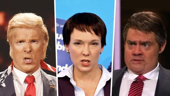 Satire: Parodien im TV: Bei Prosieben trifft es Donald Trump, im WDR Frauke Petry und im NDR Sigmar Garbiel.